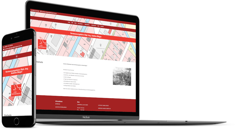 Webdesign Harz Firmenwebsite Vermessungsbuero