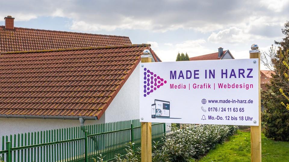 Made in Harz Werbeschild bedrucken lassen