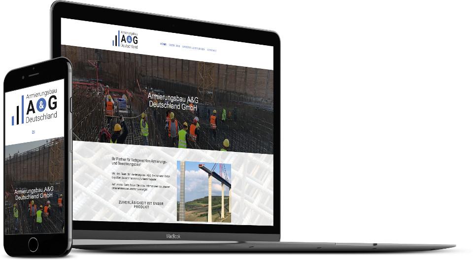 Webdesign Harz Firmenwebsite Armierungsbau Baubranche