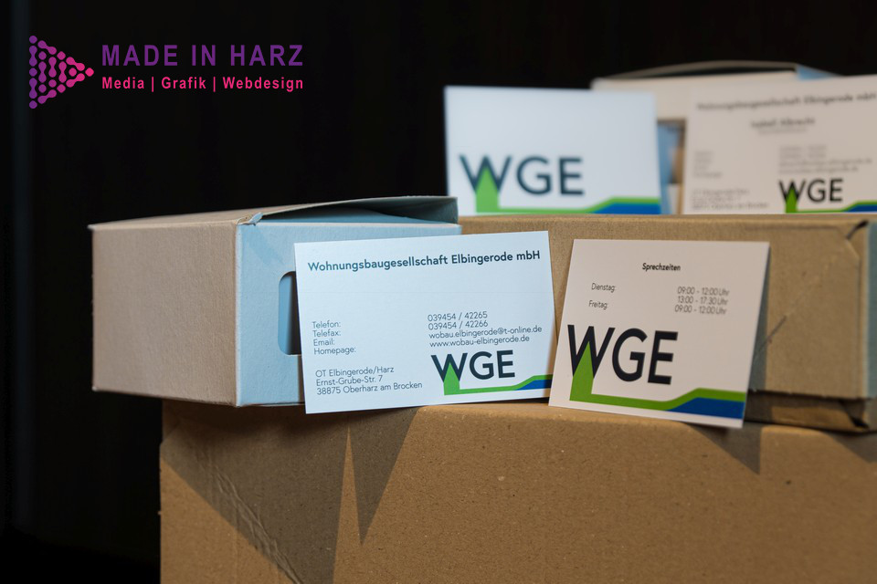 Corporate Design Harz Visitenkarten erstellen lassen inklusive Logodesign und Druck