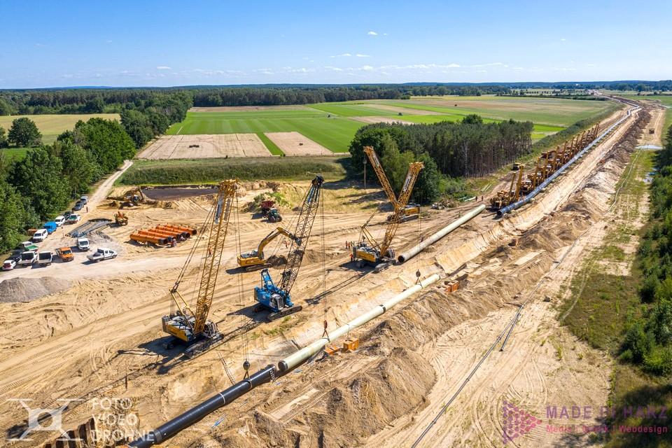 Industrie Fotograf Harz Drohne Eugal Pipeline