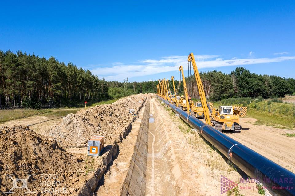 Industriefotograf Luftbild Eugal Pipeline Brandenburg