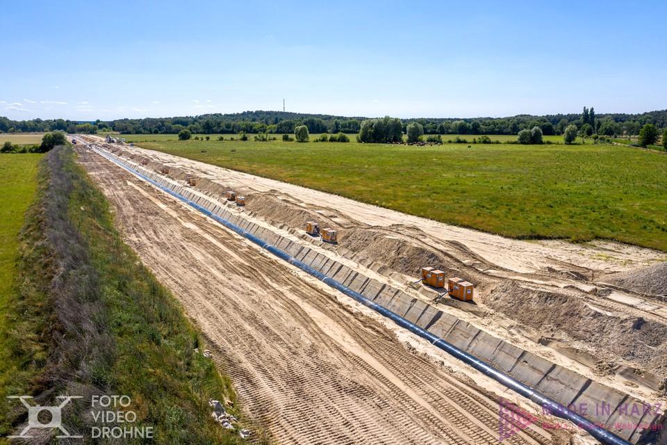 Luftaufnahmen Eugal Pipeline Drohne Luftaufnahmen