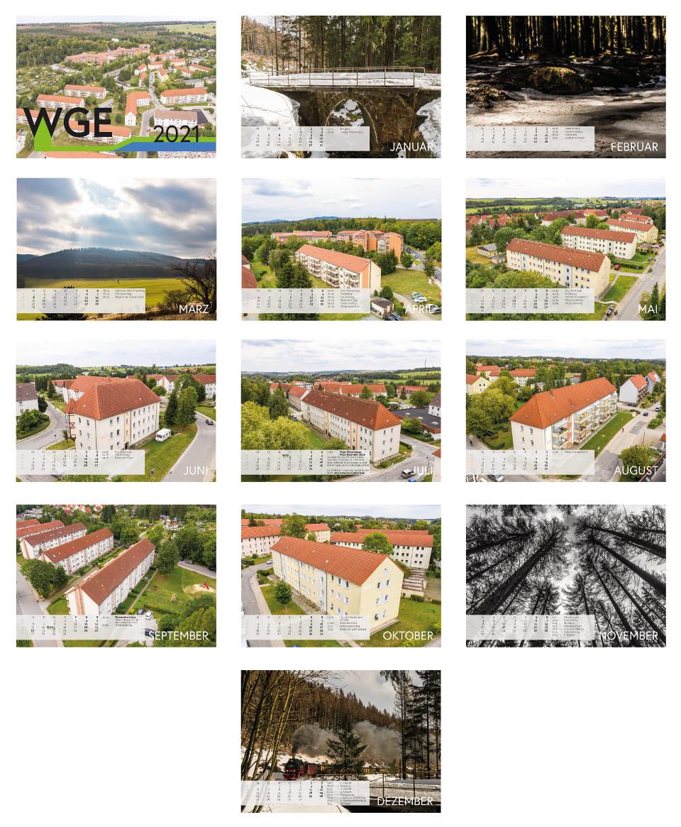 WGE Elbingerode Kalender Grafikdesign Harz