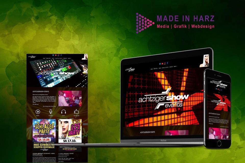 Neue Website für AchtzigerShow Events