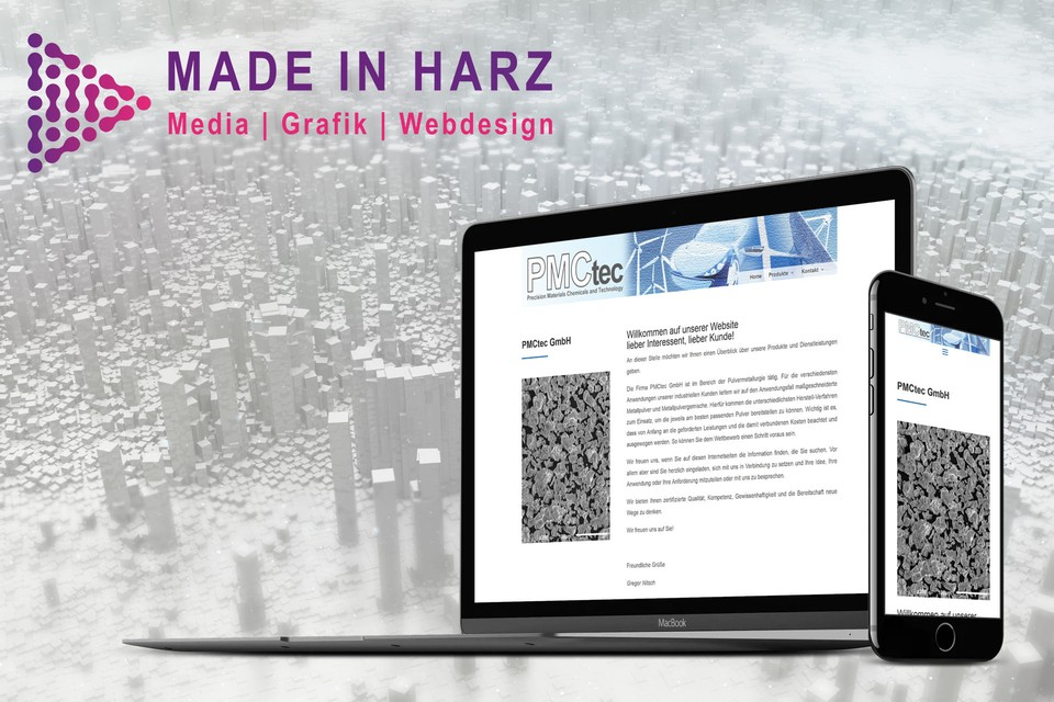 Webdesign Made in Harz PMCtec Thale