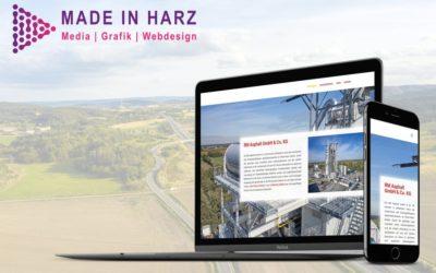 Neue Website für RM Asphalt