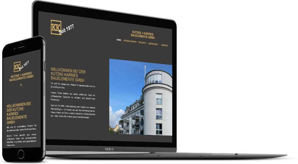 Webdesign Harz Kutzke-Karries Website
