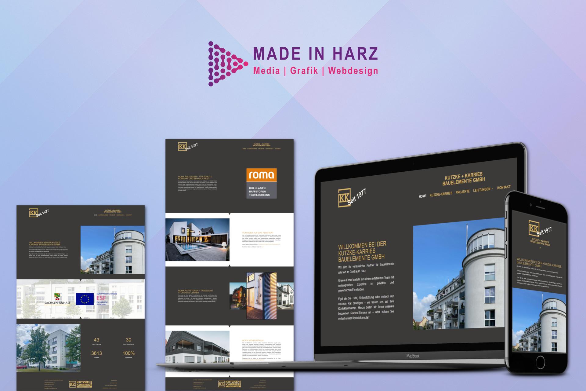 Webdesign Kutzke & Karries Bauelemente GmbH