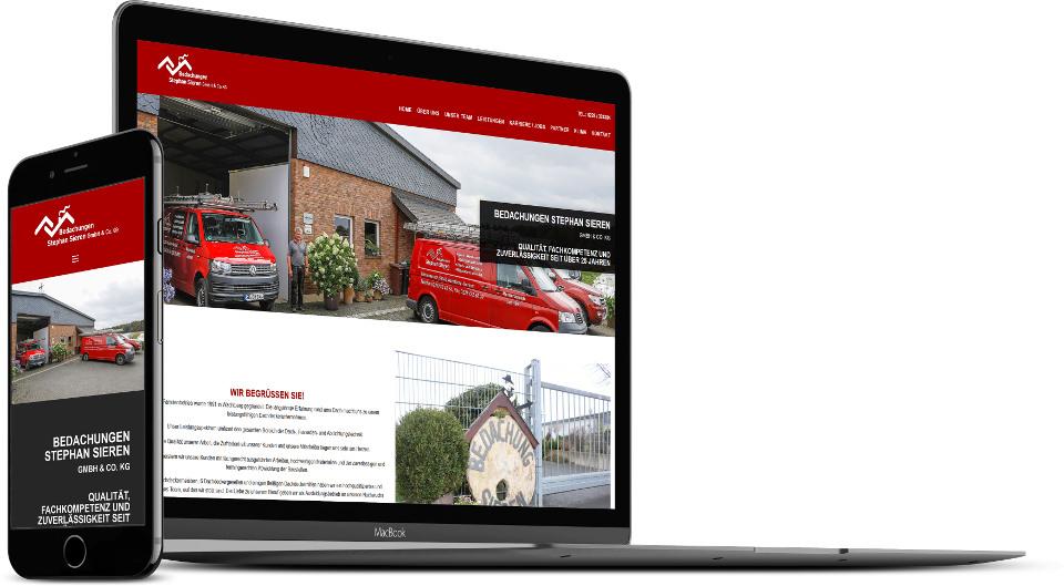 Webdesign Harz Firmenwebsite Dachdecker Website