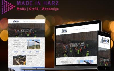 Neues Webdesign & Logodesign für Armierungsbau A&G Deutschland